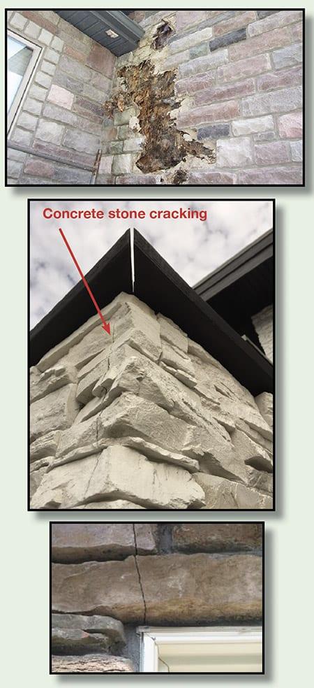 Pictures Of Concrete Veneer Stone Problems