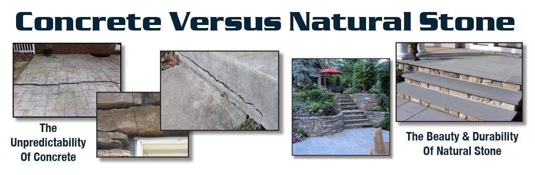 A comparion of concrete stone versus natural stone