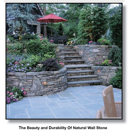 The beauty and durability of natural stone walls compared to concrete wall blocks