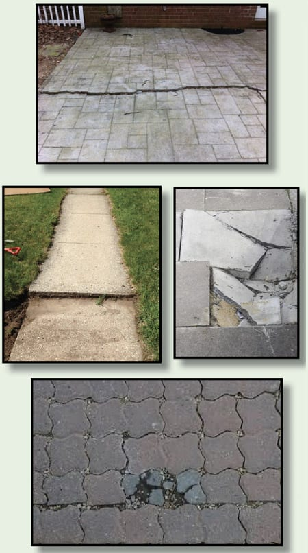 cracked concrete walkways and patios pictures