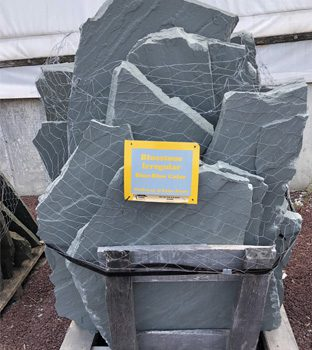 Picture of a pallet of Blue colored Irregular bluestone for walkways and patios